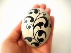 Painted Stone Painted Rock Original hand by MalenaValcarcel