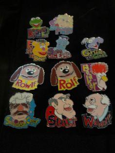 DISNEY-PIN-Muppets-Hidden-Mickey-Set-2007-2008-includes-error-pin-Rolf-Rowlf