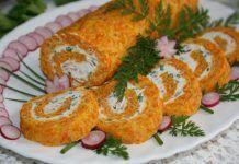 Rulada cu morcov si crema de branza Simple Spinach Salad, Sushi, French Toast, Rolls, Gem, Breakfast, Ethnic Recipes, Food, Appetizers
