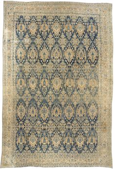 Over-size Antique Persian Kirman Rug BB2665