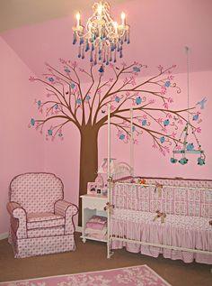 Project Nursery - Mod Vintage Room Pink Nursery