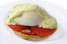 """You bet…This skinny one is beyond delicious!!! And, it's topped with a low calorie """"mock"""" Hollandaise sauce. Perfect to make on the weekend. Each skinny serving has 204 calories, 9 grams of f…"""