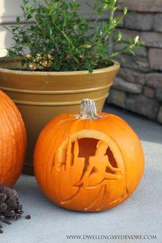 carved Cinderella pumpkin