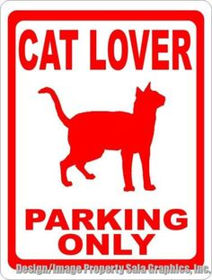 Cat Lover Sign