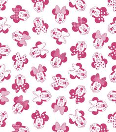 Disney Minnie Heads Fleece Fabric