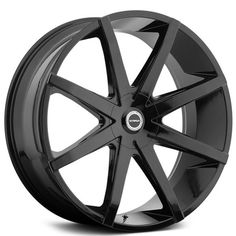 "26"" Strada Wheels Piatto Gloss Black Rims"
