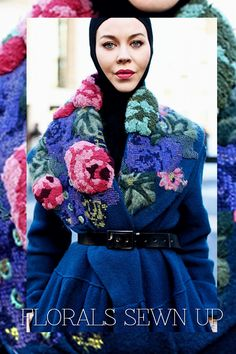 Incredibly embellished coat with embroidery | except for tufting, simple satin and cross stitch embroidery | other ideas and simple stitch tutorials