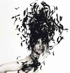 Feather Hat by Philip Treacy, 1991 - Photo by Irving Penn