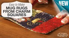 Learn how to make quilted coasters (or mug rugs) from charm squares that are perfect for friends or family this holiday season. http://www.nationalquilterscircle.com/video/easy-to-make-mug-rugs-from-charm-squares/?utm_source=pinterest&utm_medium=organic&utm_campaign=A219 #quilt #LetsQuilt