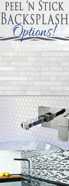 Look for Less Want an attractive backsplash but no wet saw or grout mess? Check out these peel n' stick backsplash options! Who knew?Want an attractive backsplash but no wet saw or grout mess? Check out these peel n' stick backsplash options! Who knew? Kitchen Redo, Kitchen Design, Kitchen Ideas, Kitchen Updates, Ranch Kitchen, Home Renovation, Home Remodeling, Kitchen Remodeling, Peel N Stick Backsplash