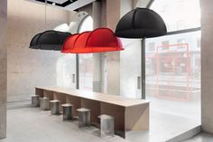 Modular lighting design providing flexibility in size: Hood Lamp by From Us With Love
