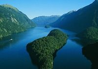 Doubtful Sound - Fiordland South Island NZ - known for its pristine beauty and wildlife, Doubtful Sound is the second largest of the 14 fiords in Fiordland National Park. In Maori legend, this colossal fiord wascreated by the godlyfigure Tu Te Raki Whanoa. Four young sea gods assisted him by carving the fiord's long arms...