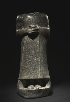 Statue of Gudea, c. 2143-2142 BC Neo-Sumerian, Iraq, Girsu, 2143-2124 BC  dolerite
