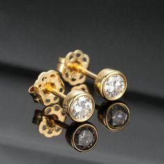 1CT Round Cut VVS1/D Diamond Solitaire Women's Stud Earrings 14k Yellow Gold FN | eBay Diamond Earrings For Women, Rose Gold Earrings, Diamond Studs, Solitaire Diamond, Name Earrings, Stud Earrings, Moissanite Earrings, Minimalist Earrings, Colored Diamonds