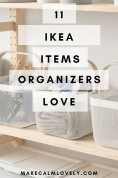 IKEA is loved by so many, especially organizers! What are the 11 items that organizers always choose and constantly use from IKEA is loved by so many, especially organizers! What are the 11 items that organizers always choose and constantly use from IKEA? Ikea Organisation, Small Space Organization, Home Organization Hacks, Organizing Your Home, Ikea Furniture Hacks, Ikea Hacks, Ikea Must Haves, Affordable Storage, Diy Rangement