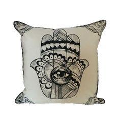 Hamsa Amulet Pillow | dotandbo.com