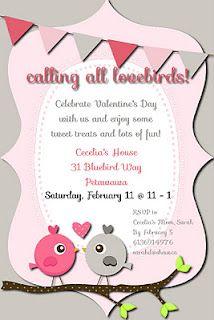 ValentineS Day Party Invitation  Via Etsy  A Valentines