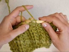 #Knitting #Tutorial - Don't miss this video tutorial for making Fishermans Rib with Knit stitches only. Looks great in the chunky yarn demonstrated and would make a great scarf, cowl, jacket or blanket.