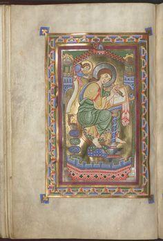 Kat. 61: Evangeliar aus Weihenstephan (um 1170 - 1180). Miniatur: Evangelist Matthäus (#)
