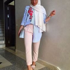Dressy pants hijab-Modest and colorful hijab outfits – Just Trendy Girls
