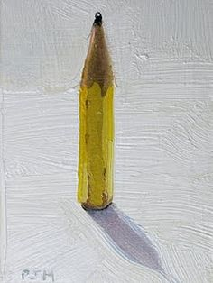 Away to draw another street artwork ? Or is the artwork the giant pencil itself ? Either way there is plenty lead in his pencil ! Painting Still Life, Still Life Art, Pencil Painting, Painting & Drawing, Pencil Art, Graphic Design Illustration, Illustration Art, Mellow Yellow, Art Plastique