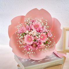 How To Wrap Flowers, Pretty Flowers, Pink Flowers, Beautiful Flowers Images, Wonderful Flowers, Ikebana Flower Arrangement, Beautiful Flower Arrangements, Flower Box Gift, Luxury Flowers