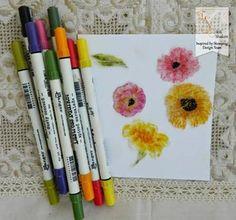 Inspired by Stamping, Irit Shalom, Summer Flowers stamp set, WHW tutorial, tutorial, Gel Medium tutorial