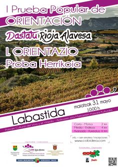 I Prueba de Orientación por #RiojaAlavesa.   #ArabakoErrioxa-ko I Orientazio Proba.