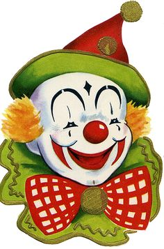 cute circus clown face