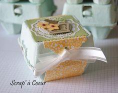 Scrap' à Coeur: Joli emballage pour de beaux oeufs en chocolat