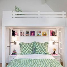 Custom Bunk Beds, Transitional, girl's room, Karen White ID