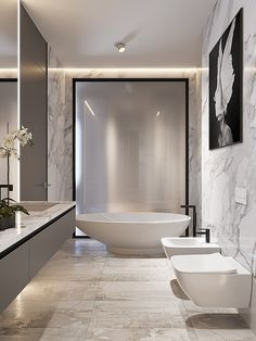 On a budget bathroom design ideas. Every bathroom remodel starts with a design suggestion. From complete master bathroom restorations, smaller sized visitor bath remodels, and also bathroom remodels of all sizes. Luxury Master Bathrooms, Chic Bathrooms, Dream Bathrooms, Master Baths, Small Bathrooms, Glamorous Bathroom, Luxurious Bathrooms, Beautiful Bathrooms, Modern Bathroom Design