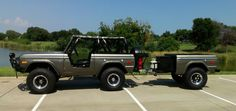 custom early bronco trailer would love have one Old Ford Bronco, Bronco Truck, Early Bronco, Classic Bronco, Classic Ford Broncos, Classic Trucks, Custom Trailers, Rv Trailers, 4x4 Trucks