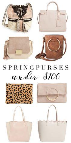 Spring Purses Under $100 | Affordable Purses | Spring Fashion | Spring accessories | Handbag Dupes
