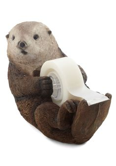 cute, but silly otter tape dispenser http://rstyle.me/n/nfgiir9te