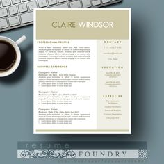 Creative Resume Template / CV Template Cover by ResumeFoundry  Minimalist resume template on Etsy.   Two page resume template + cover letter for just $15