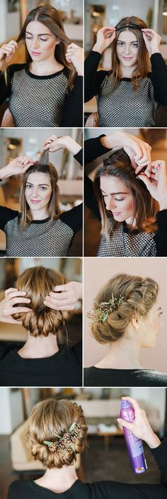 Schöne Hochsteckfrisur mit Haarband - Destination Wedding - Make Up For Beginners - Leather Jewelry DIY - DIY Wedding Hair Styles - DIY Kitchen Ideas Vintage Hairstyles Tutorial, Wedding Hairstyles Tutorial, Braided Hairstyles For Wedding, Trendy Hairstyles, Church Hairstyles, Vintage Updo Tutorial, Vintage Wedding Hairstyles, Great Gatsby Hairstyles, Twisted Hairstyles