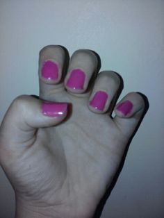 The first step to my half n half nails!!