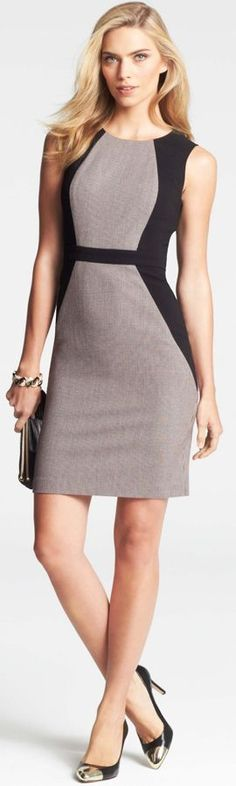 Ann Taylor women fashion outfit clothing style apparel @roressclothes closet ideas