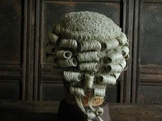 An example of an 18th-century man's wig.