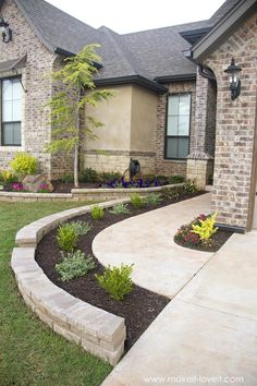 Cheap Landscaping Ideas For Front Yard, Home Landscaping, Backyard Ideas, Landscaping Edging, Garden Ideas, Pool Ideas, Yard Edging, Country Landscaping, Fence Ideas