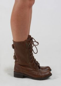SALE 40% OFF - Combat Boots With Side Zippers