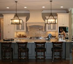 When recently refurbishing our home and deciding on our options for the new kitchen, we had not given much thought to the type of kitchen lighting fixtures that should be installed. Kitchen Redo, New Kitchen, Kitchen Remodel, Kitchen Design, Kitchen Ideas, Kitchen White, Kitchen Brick, Kitchen Backsplash, Kitchen Soffit