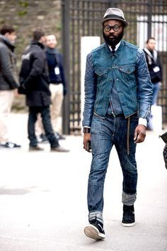 SHAKA MAIDOH @Anna Field Caual menswear, denim on denim.