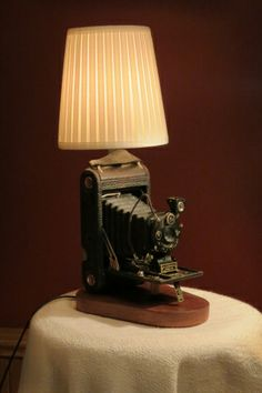 kodak autographic junior camera lamp vintage repurposed