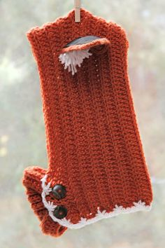 Orange Angry Fox Ear Winter Hood Cowl Combo by ZanyDays on Etsy, $35.00