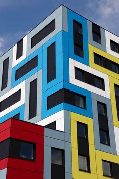 Trespa panels have earned a reputation as one of the best architectural panels and are used as a cladding material which gives any building an Cladding Design, Facade Design, Exterior Design, Cladding Ideas, Exterior Stairs, Exterior Cladding, Exterior House Colors, Colour Architecture, Minimalist Architecture