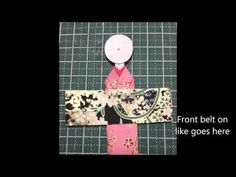 How to make a Japanese Paper Doll Bookmark - YouTube