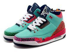 save off 1218e d54d3 Chaussure Basket Jordan Prix Pour Femme Air Jordan 3 Retro GS  Vert-1803110250-Nike