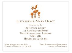 Change of address card featuring a funky bird design. Personalised, illustrated, hand made stationery to order online.